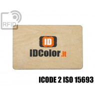 Tessere card in legno RFID ICODE 2 ISO 15693 1