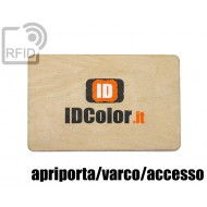 Tessere card in legno RFID apriporta/varco/accesso 1