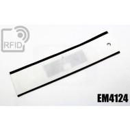 Etichette UHF NFC rettangolari EM4124 1