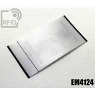 Etichette UHF raso 40 x 75 mm EM4124 1