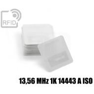 Etichette Nylon 25 x 25 mm 13,56 MHz 1K 14443 A ISO