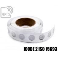 Etichette RFID trasparente Diam.30 mm ICODE 2 ISO 15693