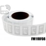 Etichette RFID trasparente Diam. 25 mm FM11RF08 1