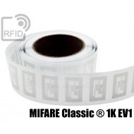 Etichette RFID trasparente Diam. 25 mm MIFARE Classic ® 1K E