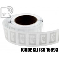 Etichette RFID trasparente Diam. 25 mm ICODE SLI ISO 15693 1