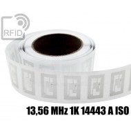 Etichette RFID trasparente Diam. 25 mm 13,56 MHz 1K 14443 A