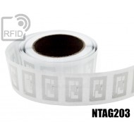 Etichette RFID trasparente Diam. 25 mm NFC NTAG203