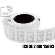 Etichette RFID trasparente Diam. 25 mm ICODE 2 ISO 15693 1
