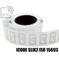 Etichette RFID trasparente Diam. 25 mm ICODE SLIX2 ISO 15693