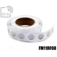 Etichette RFID trasparente Diam.25 mm FM11RF08 1