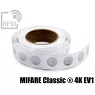 Etichette RFID trasparente Diam.25 mm MIFARE Classic ® 4K EV 1