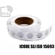 Etichette RFID trasparente Diam.25 mm ICODE SLI ISO 15693 1