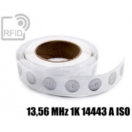 Etichette RFID trasparente Diam.25 mm 13,56 MHz 1K 14443 A I 1