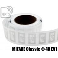 Etichette RFID trasparente 40 x 25 mm MIFARE Classic ® 4K EV 1