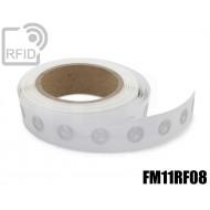 Etichette RFID trasparente Diam.18 mm FM11RF08 1