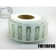 Etichette RFID trasparente 56 x 18 mm FM11RF08 1