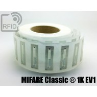 Etichette RFID trasparente 56 x 18 mm MIFARE Classic ® 1K EV 1