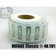 Etichette RFID trasparente 56 x 18 mm MIFARE Classic ® 4K EV 1