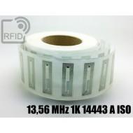 Etichette RFID trasparente 56 x 18 mm 13,56 MHz 1K 14443 A I 1