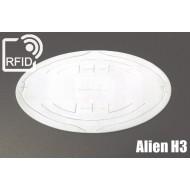 Etichette RFID UHF ovali Alien H3