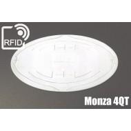 Etichette RFID UHF ovali Monza 4QT
