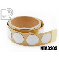 Etichette RFID antimetallo 30 mm NFC NTAG203
