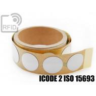 Etichette RFID NFC antimetallo 30 mm ICODE 2 ISO 15693