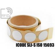 Etichette RFID NFC antimetallo 30 mm ICODE SLI-S ISO 15693