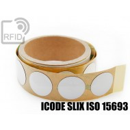 Etichette RFID NFC antimetallo 30 mm ICODE SLIX ISO 15693