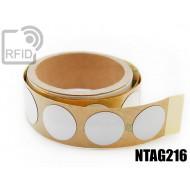 Etichette RFID antimetallo 30 mm NFC NTAG216