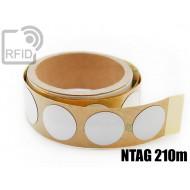 Etichette RFID antimetallo 30 mm NFC NTAG 210m