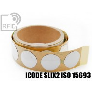 Etichette RFID NFC antimetallo 30 mm ICODE SLIX2 ISO 15693
