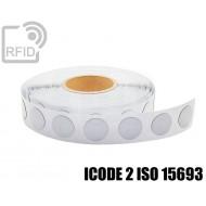 Etichette RFID antimetallo 35 mm ICODE 2 ISO 15693