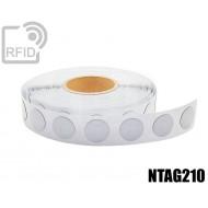 Etichette RFID antimetallo 35 mm NFC NTAG210