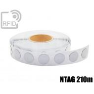 Etichette RFID antimetallo 35 mm NFC NTAG 210m