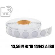 Etichette RFID antimetallo 18 mm 13,56 MHz 1K 14443 A ISO