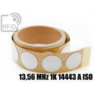 Etichette RFID antimetallo Diam. 25 mm 13,56 MHz 1K 14443 A