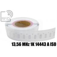 Etichette Nylon 20 x 25 mm 13,56 MHz 1K 14443 A ISO
