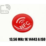 Etichette RFID resina diam. 25 mm 13,56 MHz 1K 14443 A ISO