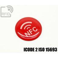 Etichette RFID resina diam. 25 mm ICODE 2 ISO 15693