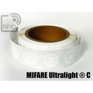 Etichette RFID Diam. 36 mm NFC MIFARE Ultralight ® C