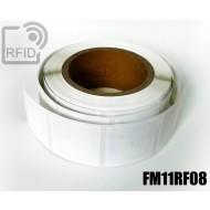 Etichette RFID quadrate personalizzabili FM11RF08