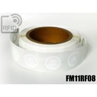 Etichette RFID circolari personalizzabili FM11RF08