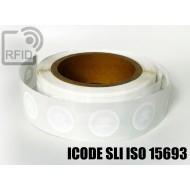 Etichette RFID Diam. 25 mm ICODE SLI ISO 15693