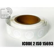 Etichette RFID Diam. 25 mm ICODE 2 ISO 15693