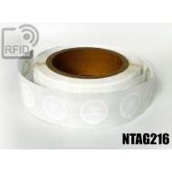 Etichette RFID Diam. 25 mm NFC NTAG216