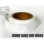 Etichette RFID Diam. 25 mm ICODE SLIX2 ISO 15693 1