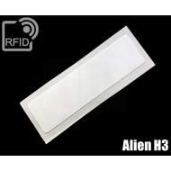 Etichette RFID UHF rettangolari Alien H3