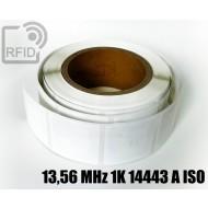 Etichette RFID 44 x 44 mm 13,56 MHz 1K 14443 A ISO 1