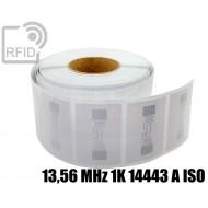 Etichette RFID 85,60 x 54 mm 13,56 MHz 1K 14443 A ISO 1